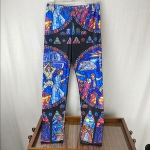 Star Wars stained glass print leggings